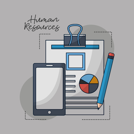 human resources smartphone contract person vector illustration Stockfoto