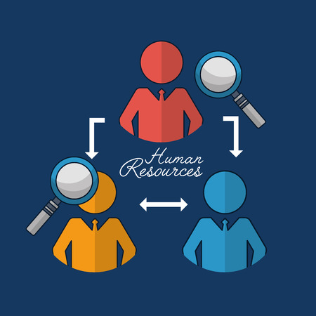 human resources recruited people magnifying glass connection vector illustration Stock Photo