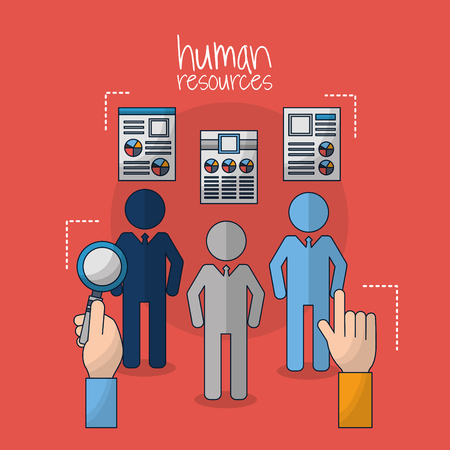 human resources choose search employed people hands pointed vector illustration Stock Photo