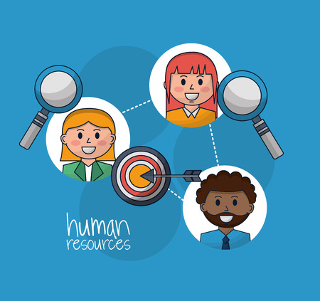 human resources people search employed vector illustration