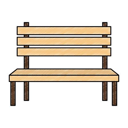 park wooden chair icon vector illustration design Foto de archivo - 112326838