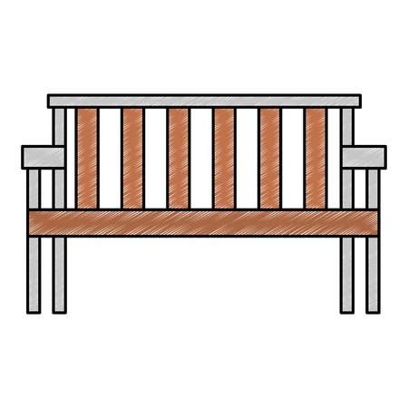 park wooden chair icon vector illustration design Foto de archivo - 112326839