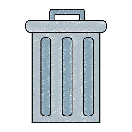 recycle bin pot icon vector illustration design
