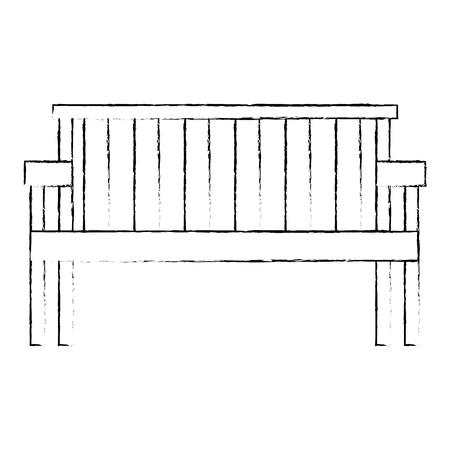 park wooden chair icon vector illustration design Foto de archivo - 112326847