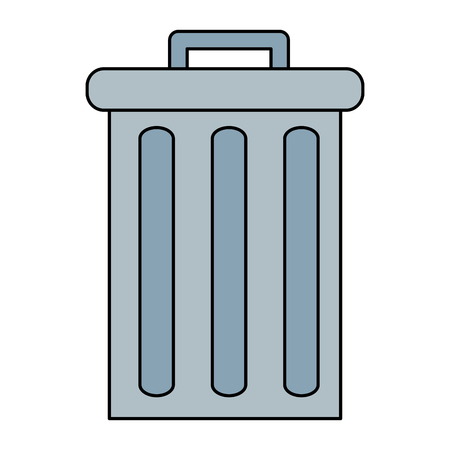 recycle bin pot icon vector illustration design