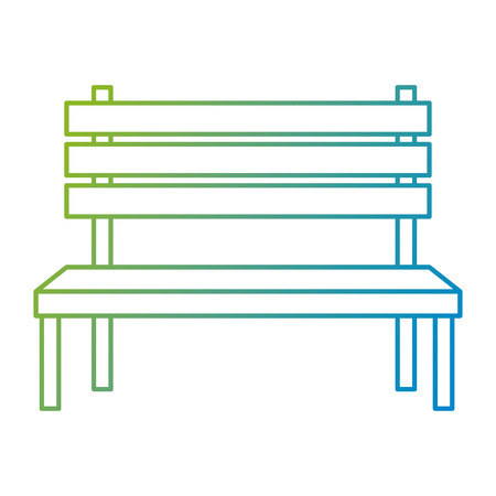 park wooden chair icon vector illustration design Foto de archivo - 105689271