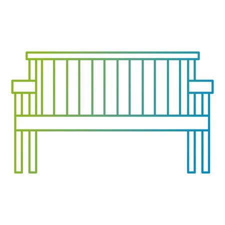 park wooden chair icon vector illustration design Foto de archivo - 112326889