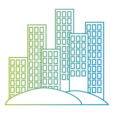 cityscape buildings scene icons vector illustration design Archivio Fotografico - 105689830