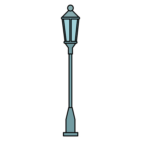 park streetlamp isolated icon vector illustration design