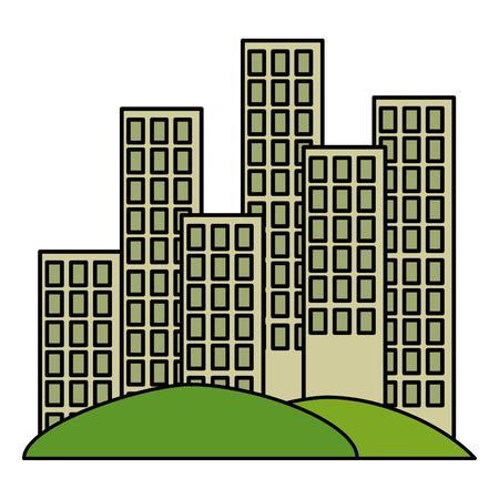 cityscape buildings scene icons vector illustration design Archivio Fotografico - 112326924
