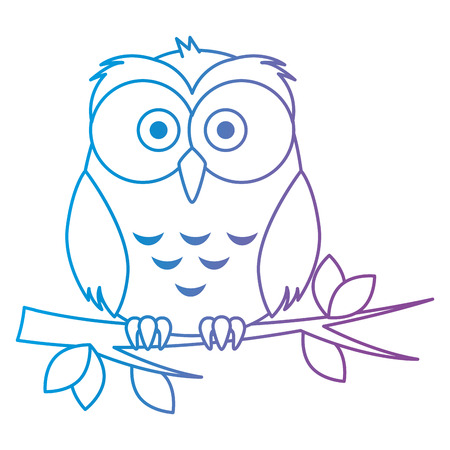 cute and adorable owl character vector illustration design