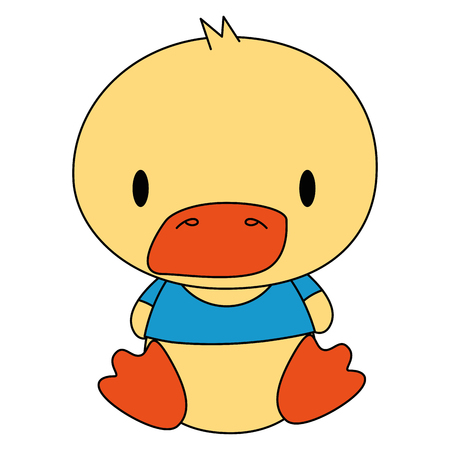 cute and adorable duck character vector illustration design