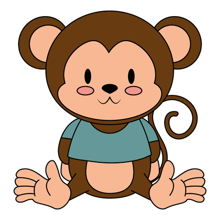 cute and adorable monkey character vector illustration design