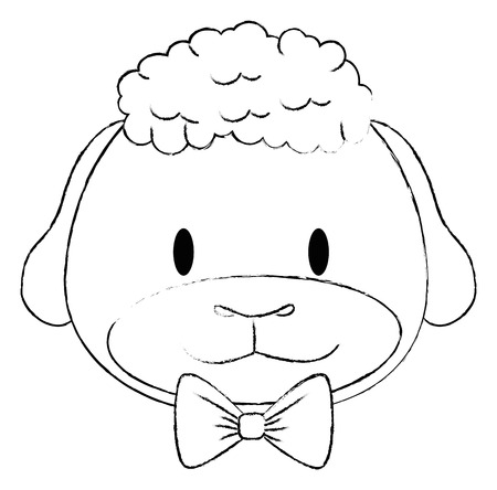 cute and adorable sheep character vector illustration design Stock Vector - 112327093