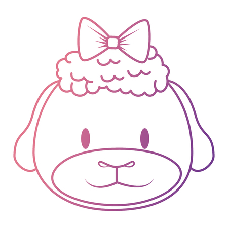 cute and adorable female sheep character vector illustration design  イラスト・ベクター素材