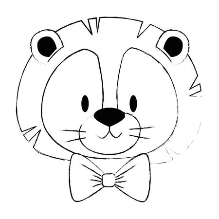 cute and adorable lion character vector illustration design Ilustración de vector