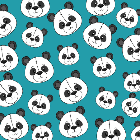 cute and adorable panda bear pattern background vector illustration design