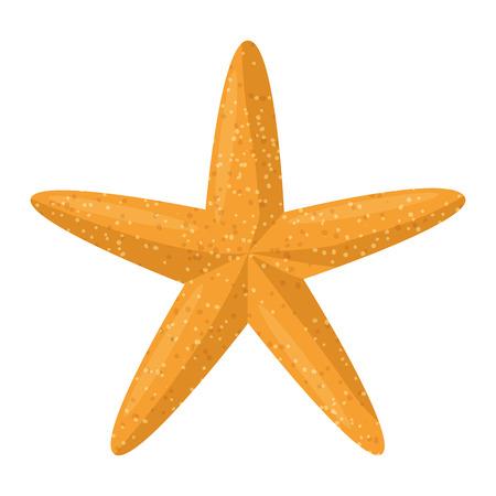 Diseño de ilustración de vector de icono de playa animal estrella de mar