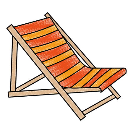 wooden beach chair icon vector illustration design Vektorové ilustrace