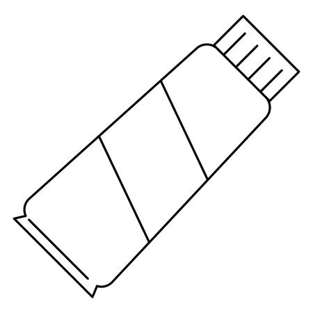 cream tube product icon vector illustration design