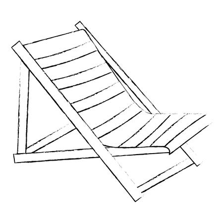 hölzerner Strandstuhlikonenvektorillustrationsentwurf Vektorgrafik