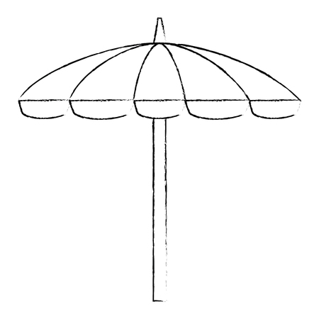 umbrella beach isolated icon vector illustration design 版權商用圖片 - 112332505