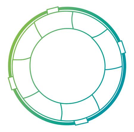 progettazione dell'illustrazione di vettore dell'icona isolata bagnino del galleggiante