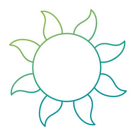 summer sun isolated icon vector illustration design Standard-Bild - 105720506