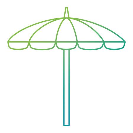umbrella beach isolated icon vector illustration design