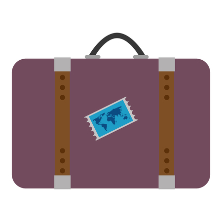 suitcase travel isolated icon vector illustration design Banque d'images - 105720525