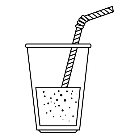 fresh beverage in glass vector illustration design