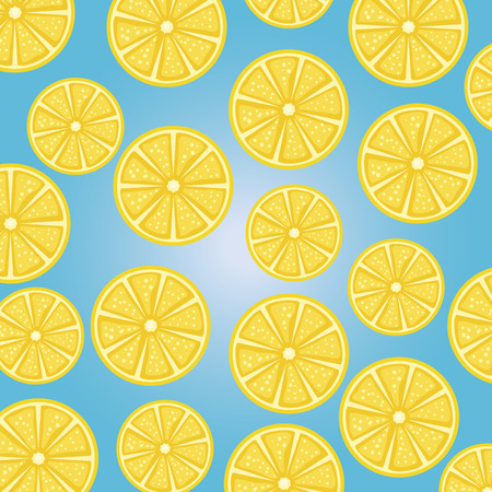 oranges half fresh fruits pattern vector illustration design Иллюстрация