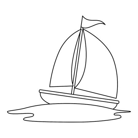 sailboat travel isolated icon vector illustration design Stok Fotoğraf - 112332667