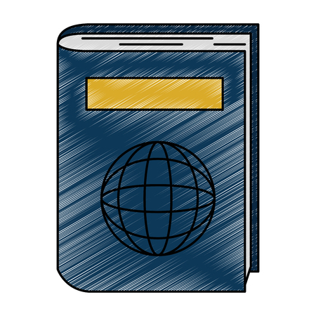 passport document isolated icon vector illustration design
