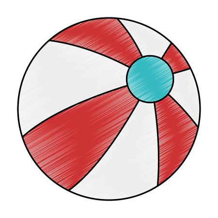 beach balloon isolated icon vector illustration design Vetores