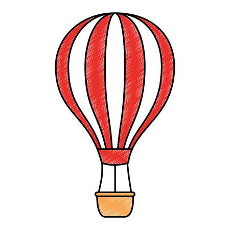 balloon air hot icon vector illustration design Stock fotó - 112332685