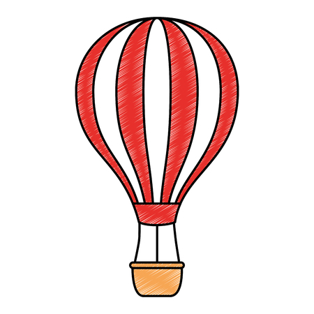 balloon air hot icon vector illustration design