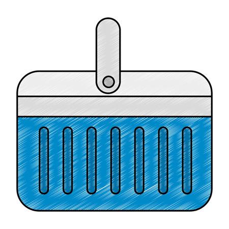 refroidisseur portable icône isolé illustration vectorielle