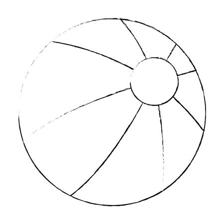 beach balloon isolated icon vector illustration design Standard-Bild - 112332707