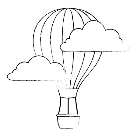 balloon air hot flying vector illustration design Foto de archivo - 112332710