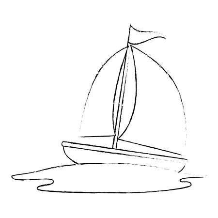 sailboat travel isolated icon vector illustration design Stok Fotoğraf - 105720600