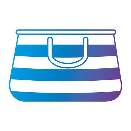summer vacations bag icon vector illustration design