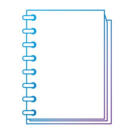 notebook school education icon vector illustration design