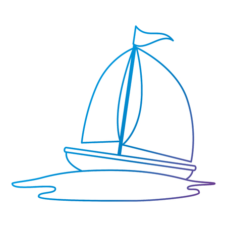 sailboat travel isolated icon vector illustration design Stok Fotoğraf - 112282464
