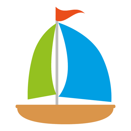 sailboat travel isolated icon vector illustration design Stok Fotoğraf - 112282470