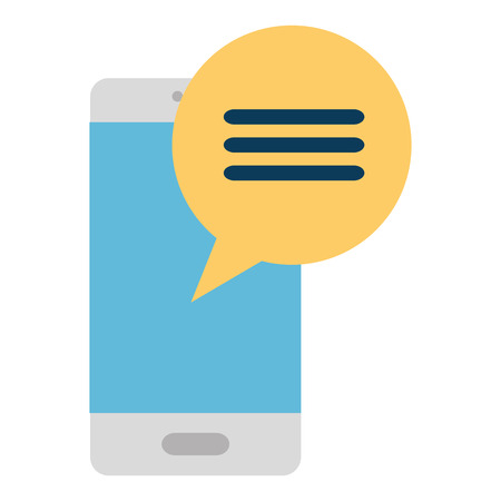 smartphone device with speech bubble vector illustration design 矢量图像