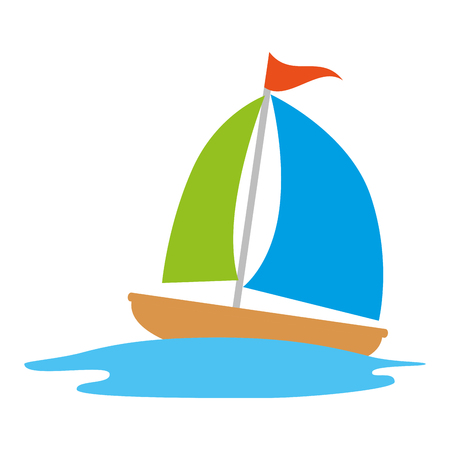 sailboat travel isolated icon vector illustration design Stok Fotoğraf - 112282479