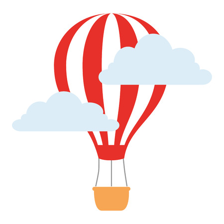 balloon air hot flying vector illustration design Foto de archivo - 105737115