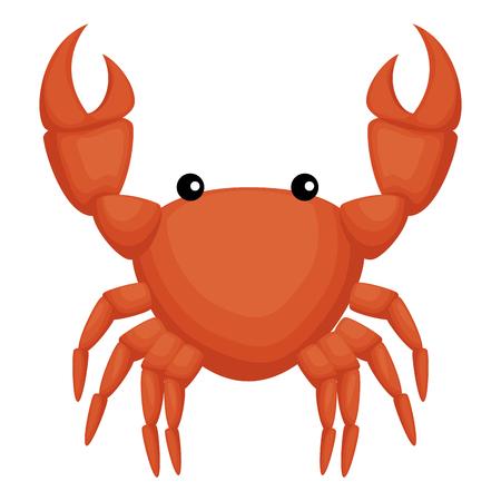 crab sea isolated icon vector illustration design