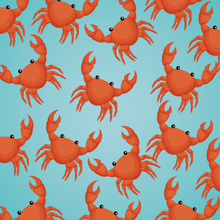crabs sea pattern background vector illustration design 向量圖像